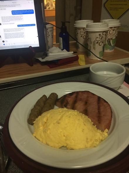 Tasty Lo-Carb Hospital Breakfast